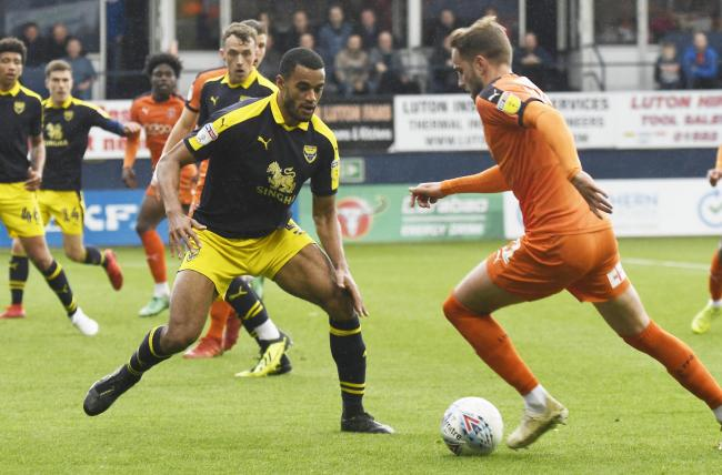 Curtis Nelson made his 121st and final appearance for Oxford United against Luton Town on the final day of last season Picture: David Fleming