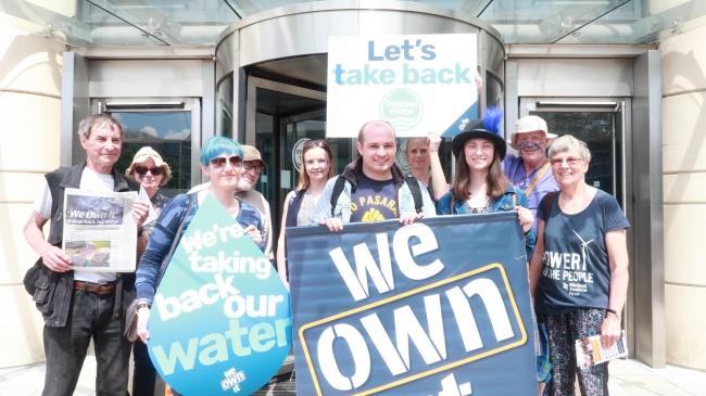 Protesters at Thames Waters headquarter on Saturday