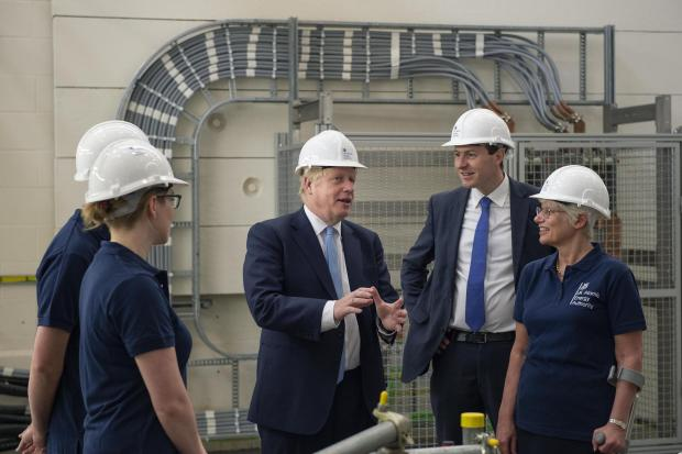 Witney Gazette: Boris Johnson at Culham Science Centre this morning. (Pic: Julian Simmonds/The Daily Telegraph/PA Wire)