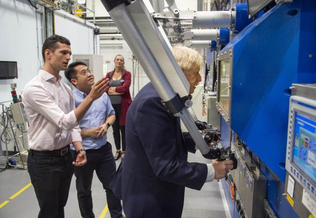 Witney Gazette: The prime minister at Culham Science Centre (Pic: Julian Simmonds/The Daily Telegraph/PA Wire)