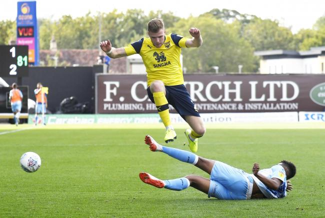 Chris Cadden on the attack for Oxford United against Coventry City  Picture: David Fleming