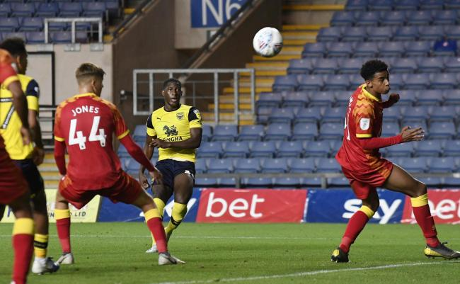 Shandon Baptiste curls home the winner for Oxford United last nightPicture: David Fleming