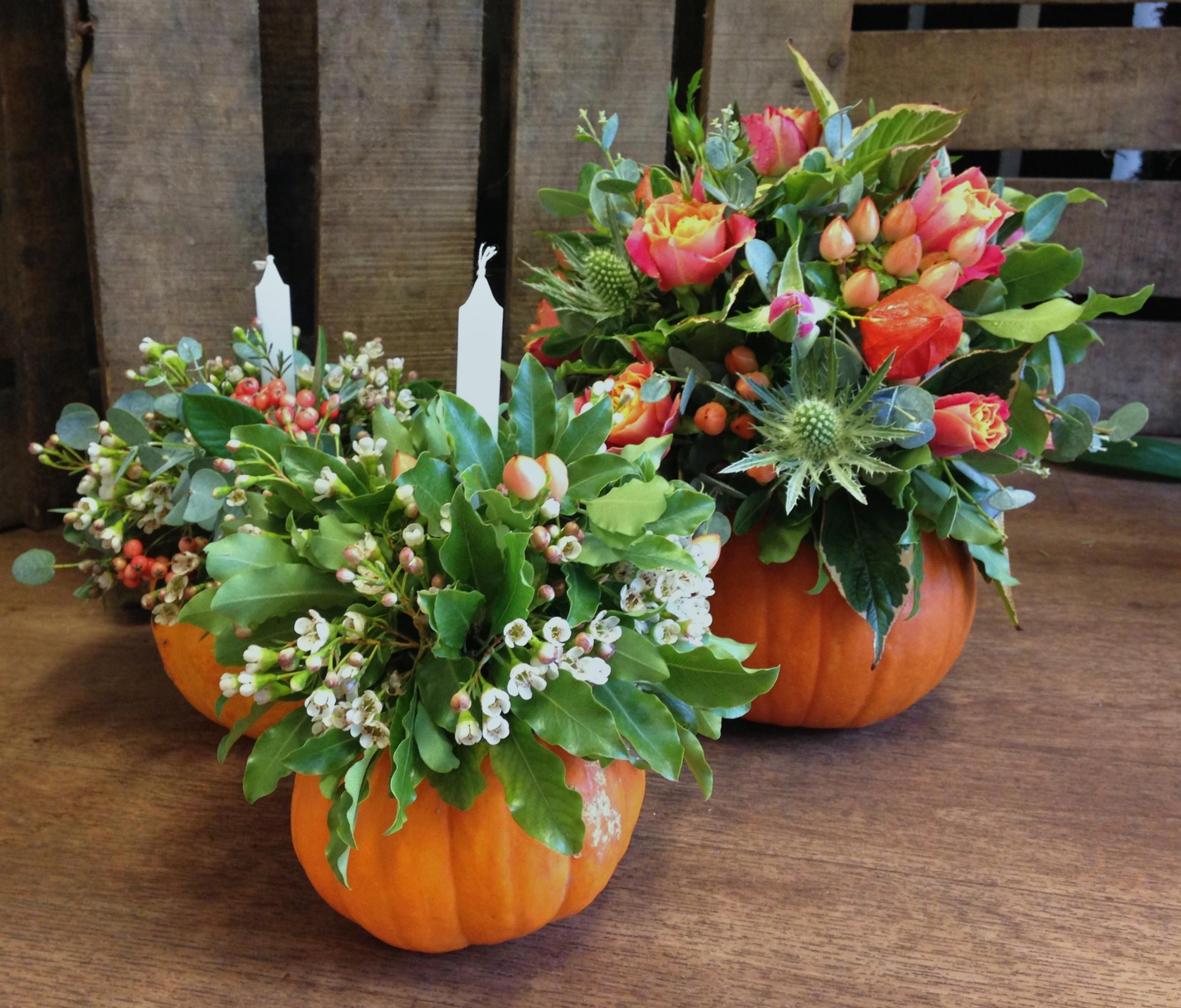 Flower Filled Pumpkins & Squashes Workshop