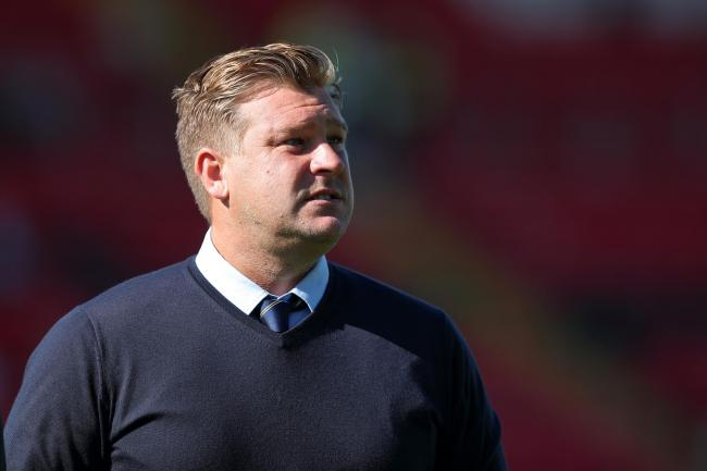 Oxford United manager Karl Robinson at Lincoln City last weekend Picture: James Williamson