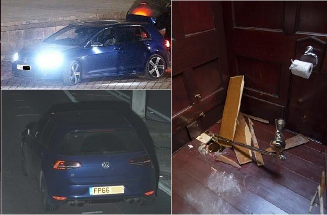 CCTV of stolen cars used in Blenheim Palace gold toilet theft