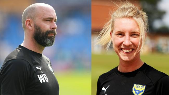 Wayne Brown (left) and Amy Cranston have agreed new contracts at Oxford United