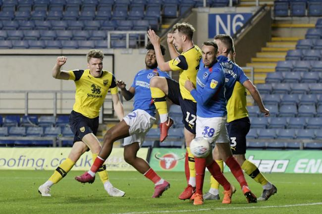Rob Dickie fires home on the turn to grab a last-gasp equaliser for Oxford United Picture: David Fleming