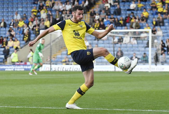 Elliott Moore is set to start for Oxford United at Rotherham today with Rob Dickie suspendedPicture: David Fleming