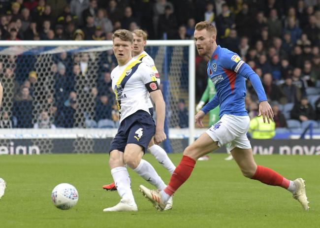 Rob Dickie during Oxford United's draw at Portsmouth in November   Picture: David Fleming