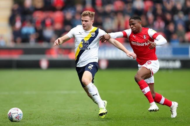 Chris Cadden (left) on the attack for Oxford United against Rotherham United last month  Picture: James Williamson