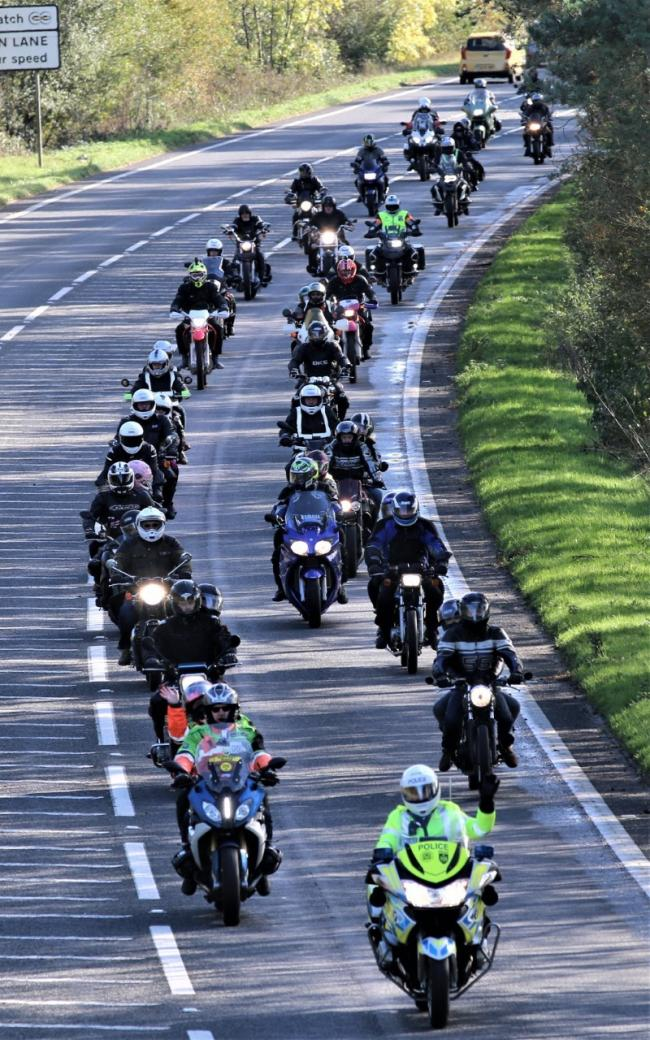 PC Harper Ride of Respect. Picture by Brian Catt