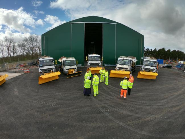 Gritters at Drayton last year. Picture: Oxfordshire County Council