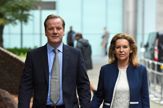 Charlie Elphicke with his wife Natalie