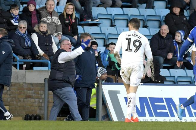 Gillingham boss Steve Evans issues instructions from the touchline in Saturday's draw with Oxford United  Picture: David Fleming
