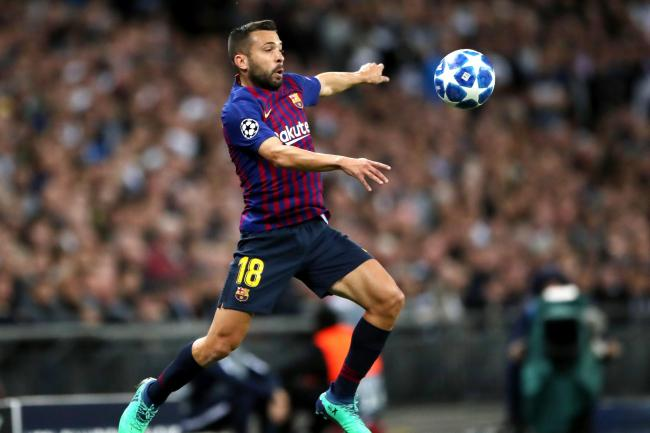 Jordi Alba has suffered an injury