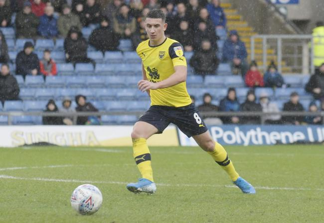 Cameron Brannagan in action for Oxford United against Sunderland   Picture: David Fleming