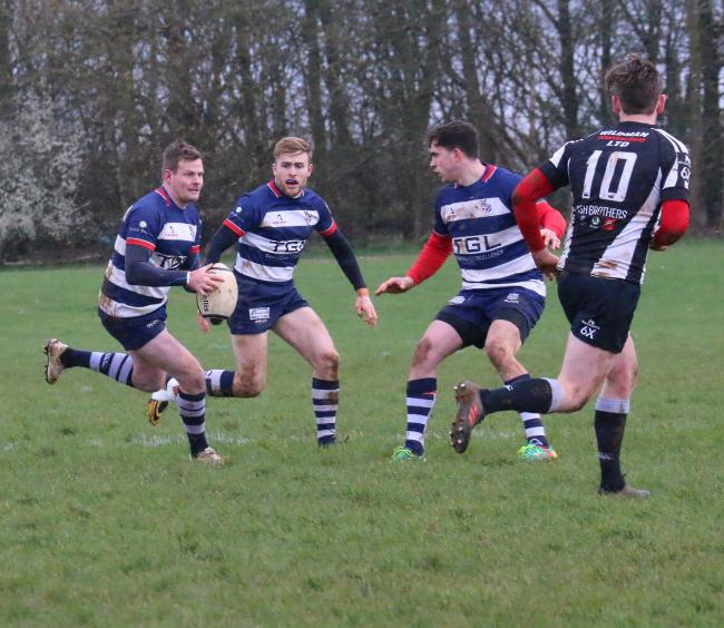 Tommy Gray in action for Banbury against Royal Wootton Bassett Picture: Simon Grieve