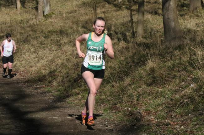 Sophie Lloyd on her way to finishing second at round five of the 2019/20 Oxford Mail Cross Country League, which saw her claim the overall title Picture: Barry Cornelius