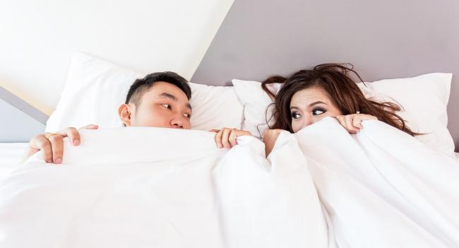 File pic of couple in bed
