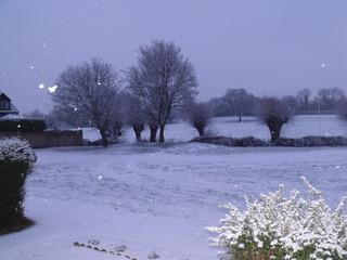 Snowy fields on the edge of Witney by Richard West