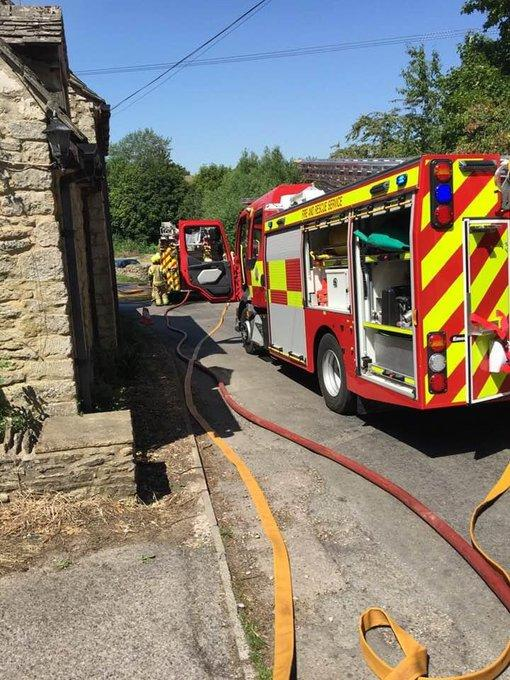 Fire crews at the Crawley Inn, Witney. Picture: Colin Dingwall Twitter