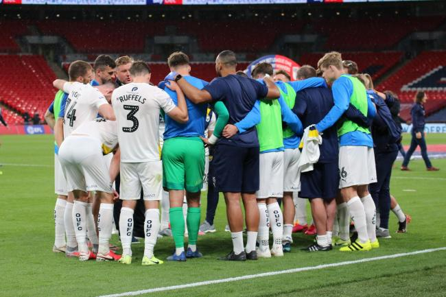 Oxford United players at full-time on Monday Picture: Steve Daniels