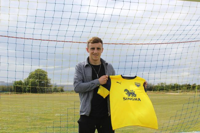 Joel Cooper has joined Oxford United from Irish League side Linfield Picture: Oxford United