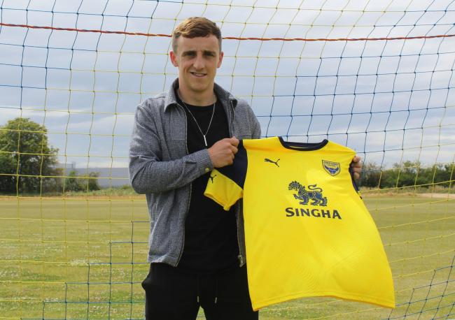 Joel Cooper signed for Oxford United from Linfield last week    Picture: OUFC