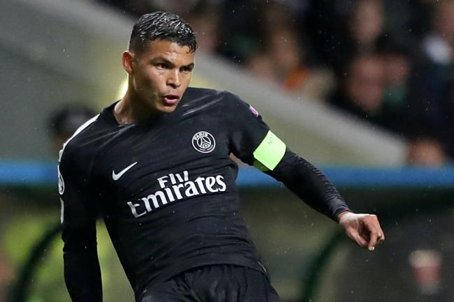 Thiago Silva, pictured, has targeted the Premier League title after signing for Chelsea