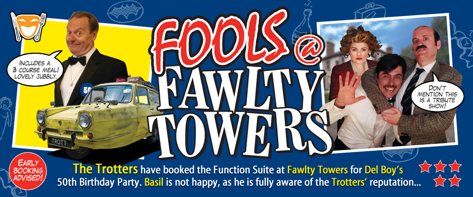 Fools @ Fawlty Towers Christmas Special Dinner Milton Keynes 11/12/2020