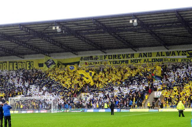 Oxford United fans on Swindon Town's last visit to the Kassam Stadium Picture: Ric Mellis