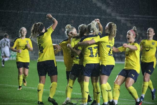 Oxford United Women are through to the third round of the Vitality Women's FA Cup Picture: Darrell Fisher
