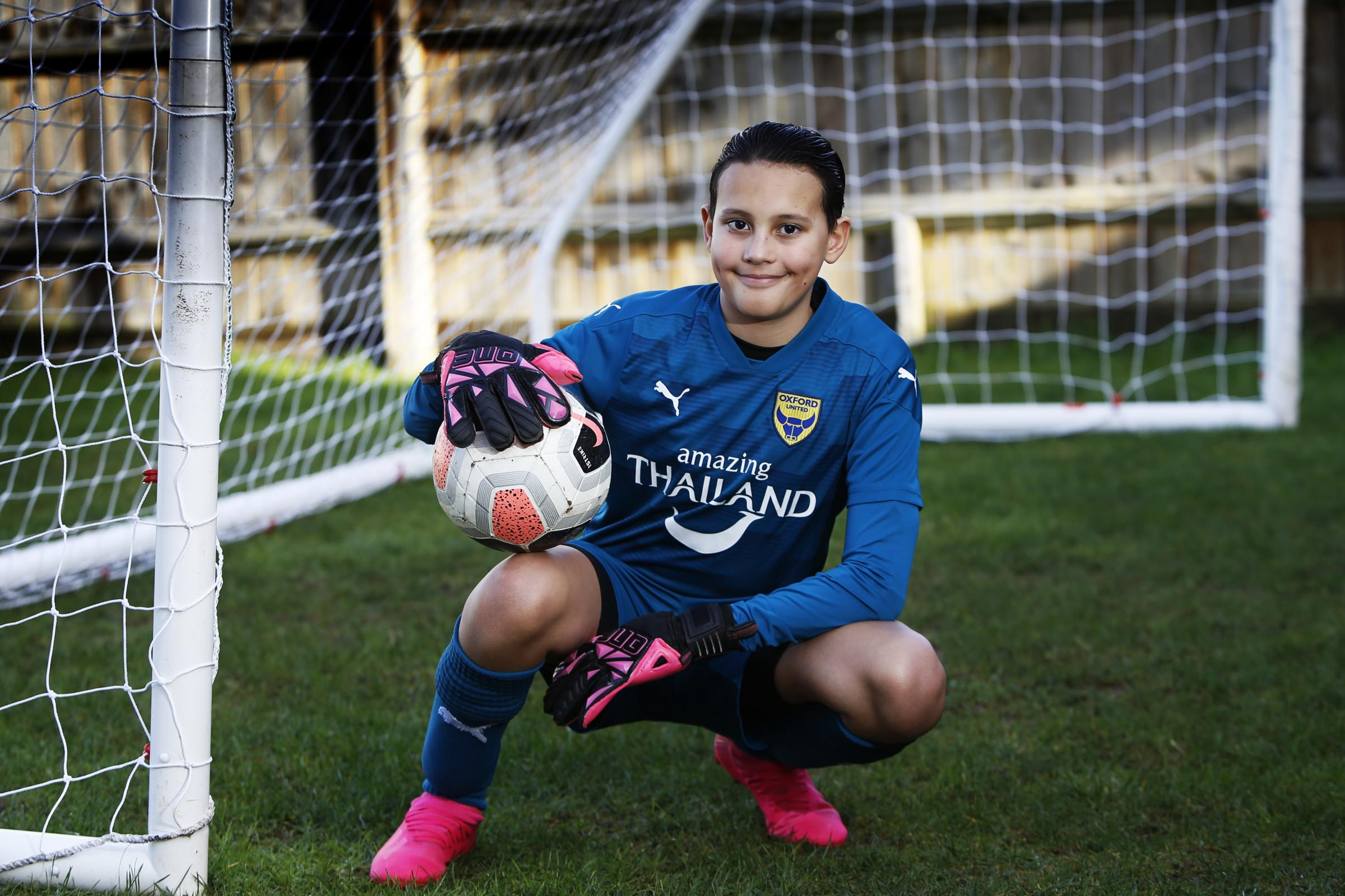 Young Oxford United goalkeeper Jayden Garthwaite is raising awareness for mental health.02/02/2021.Picture by Ed Nix..