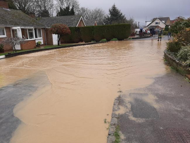 Flooding in Aysgarth Road in Yarnton. Picture: Keith Johnston