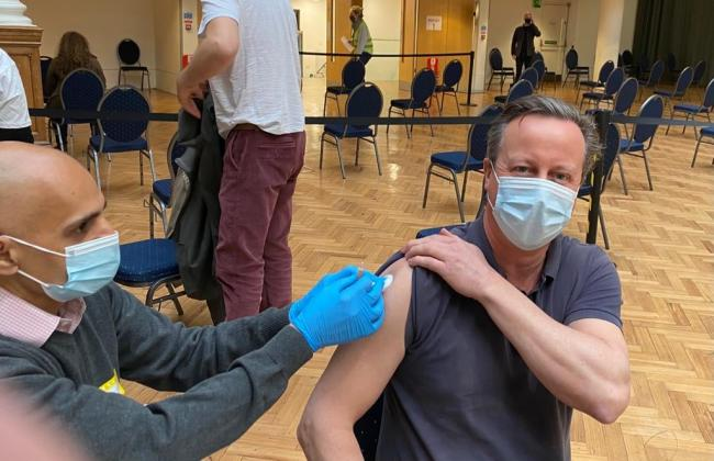 Former Prime Minister and Chipping Norton resident receives his first Covid vaccine
