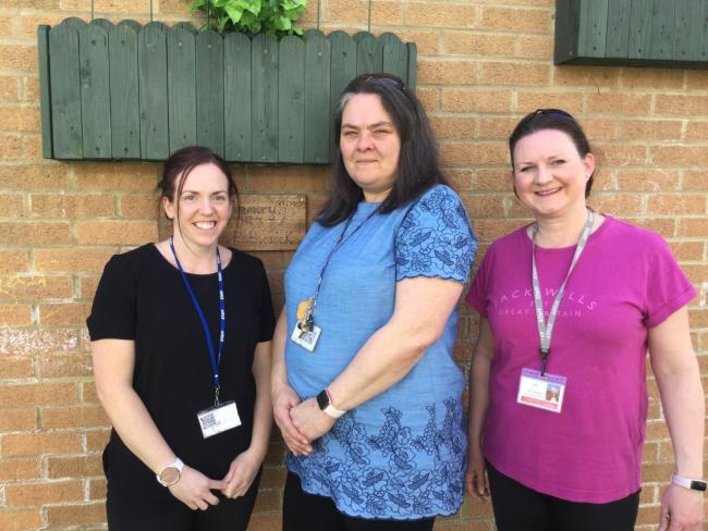 Teaching assistants from left to right: Ami Archer, Kim Quinn and Sarah Pratley