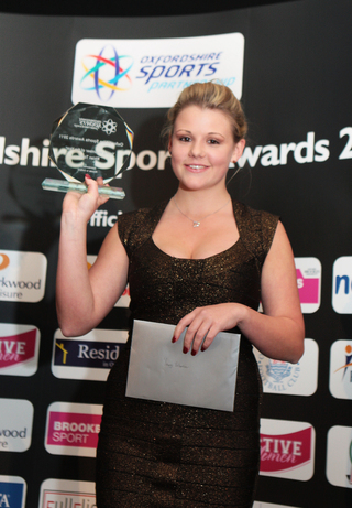 Rhian Todd, manager of Freeland Cricket Club's Under 17 girls team was junior volunteer of the year