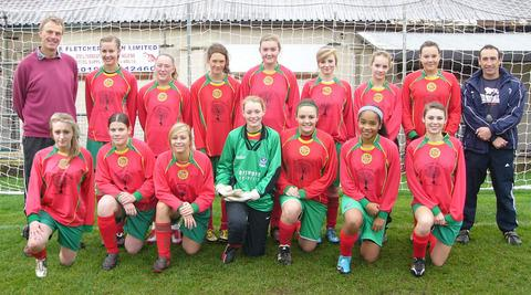 Carterton Under 16s, who have landed the Oxford Mail Girls League title