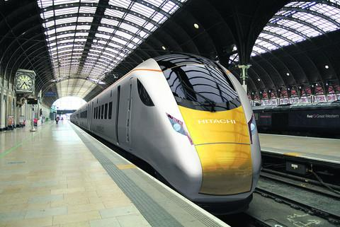 An artist's impression of one of the IEP trains at Paddington