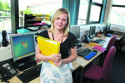 Adele Gibbard began working at Oxfordshire County Council as an apprentice and has been working her way up after winning the Apprentice of the Year award in 2008