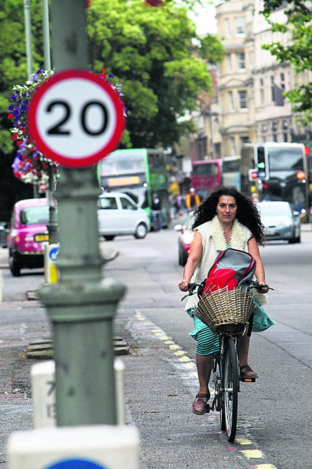 Sushila Dhall, pictured in the St Gile's 20mph zone