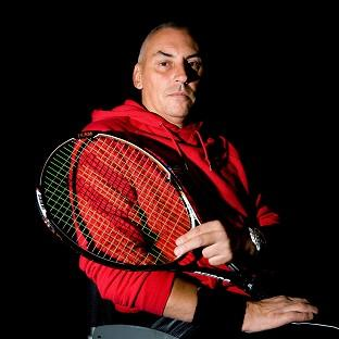 Peter Norfolk is going for gold in the wheelchair tennis