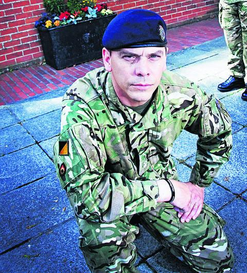 Maj Frankland pictured at Vauxhall Barracks, in Didcot