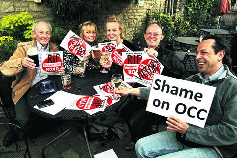 Witney Gazette: Campaigners celebrate after the Cogges Link Road scheme collapsed in June