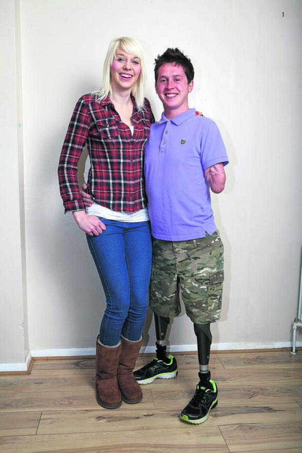 Witney Gazette: Corporal Tom Neathway, 29, met fellow rally driver Rachael Patterson, 24, while fundraising for the Dakar Rally