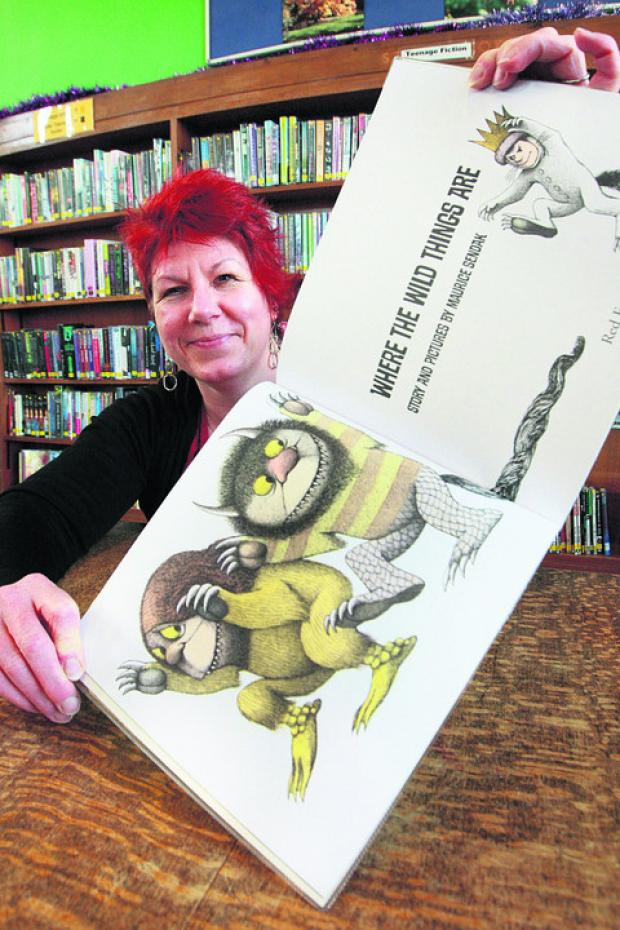 Alison Pearce at Cowley Library with Where The Wild Things Are