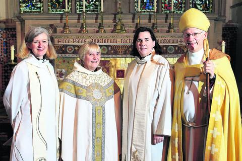 Left to right: The Rev Dr Amanda Bloor, chaplain to the Bishop of Dorchester, the Rev Canon Sue Booys, the Rector of Dorchester Abbey, the Ven Karen Gorham, Archdeacon of Buckingham and Colin Fletcher, Bishop of Dorchester