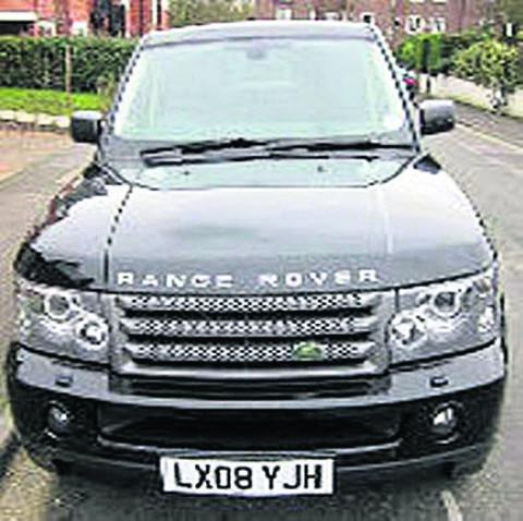 Witney Gazette: The stolen Range Rover