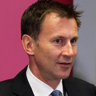 Protestors want Health Secretary Jeremy Hunt to reject proposals to close a hospital's newly revamped A and E department