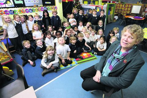 Witney Gazette: Wheatley Primary School headteacher Joan Morters has agreed to take on an extra 10 pupils at her school